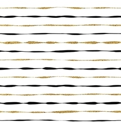 Background of golden shiny and black stripes vector image