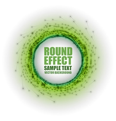fireworks circle green white with text vector image