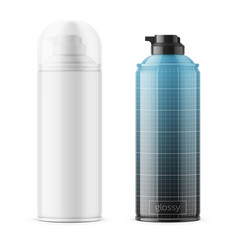 glossy tin can for shaving foam vector image vector image