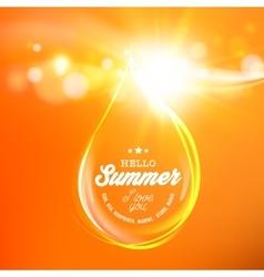 Honey drop over orange space vector image