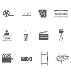 Movie cinema icons set vector image vector image