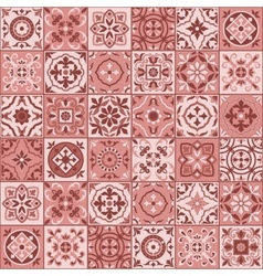Seamless pattern white Turkish tiles ornaments vector image