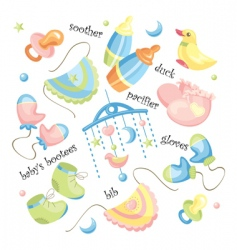 set of baby clothing vector image