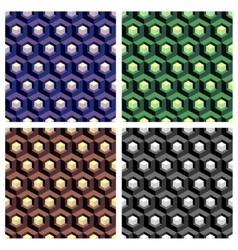 Abstract hexagon cell background composition set vector image