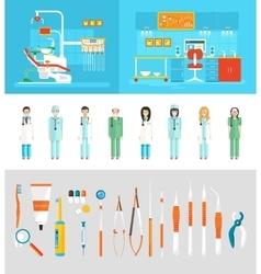 Dental office dentists vector