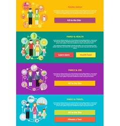 Family with children kids people concept vector image