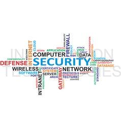 IT security WordCloud vector image vector image