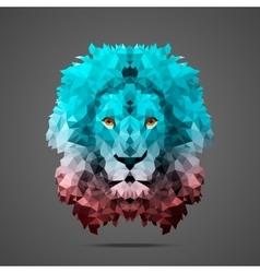 Lion low poly Rose Quartz Side light vector image vector image