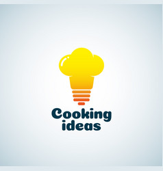 Cooking ideas abstract sign emblem or logo vector