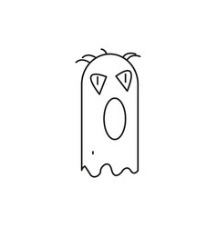 halloween monster ghost icon vector image vector image