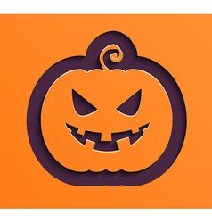 Happy Halloween paper pumpkin vector image