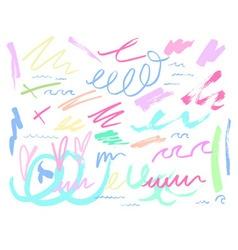 Pastel colour doodle background vector