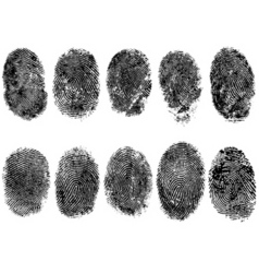 10 fingerprints vector