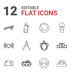 12 icon icons vector