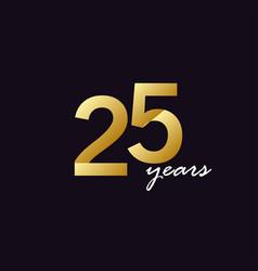25 years anniversary celebration gradient vector