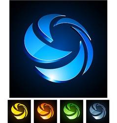 3d rotate emblems vector image