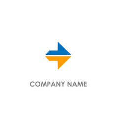 arrow right colored logo vector image