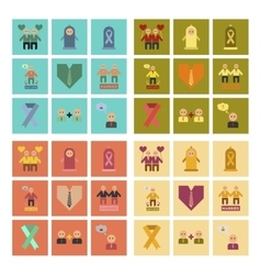 assembly flat icons gay relationships vector image