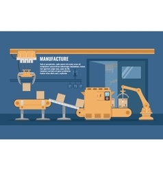 Automated Assembly line Design vector