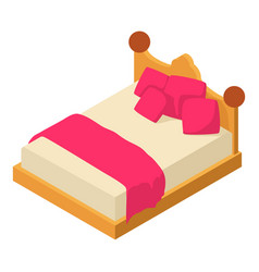 bed icon isometric style vector image