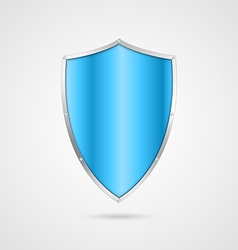 Blue shield icon vector