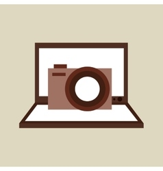 Camera photo technology computer laptop vector
