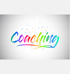 Coaching creative vetor word text with vector