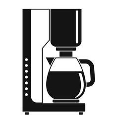 Coffee maker icon simple style vector