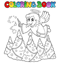 coloring book angel theme image 2 vector image
