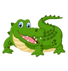 cute crocodile vector image