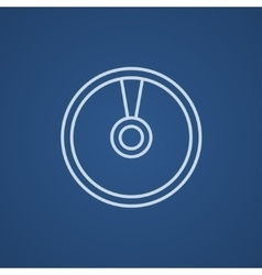 Disc line icon vector image