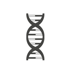 dna helix logo design isolated on white vector image