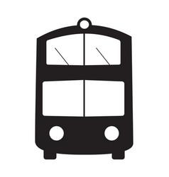 double-decker bus silhouette object element vector image