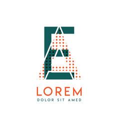 ea modern logo design with orange and green color vector image