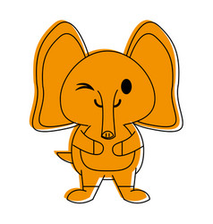 Elephant cute animal cartoon icon image vector