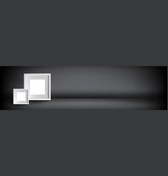 empty abstract showroom studio display stage vector image