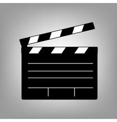 Film clap icon vector