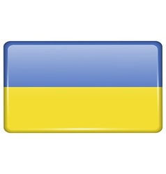Flags Ukraine in the form of a magnet on vector image
