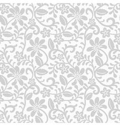 Floral seamless pattern with gray lace vector