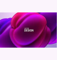 Glossy soft shapes abstract 3d background vector