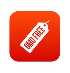 gmo free price tag i icon digital red vector image