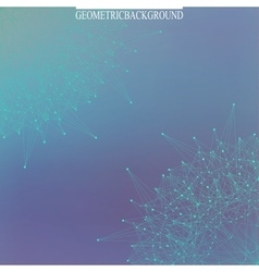 Graphic background molecule and communication vector image