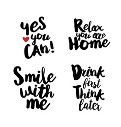 Hand lettering set for fun vector