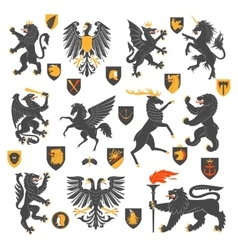 Heraldic Animals And Elements vector