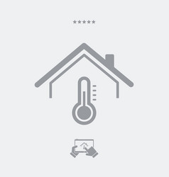 house temperature - web icon vector image