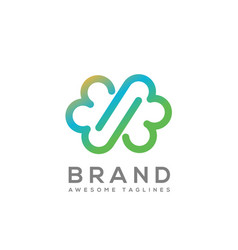 Infinity cloud color logo vector