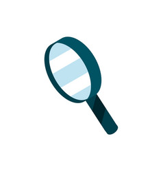 magnifier online shopping isometric icon vector image