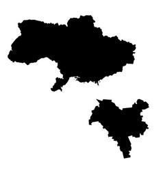 Map ukraine and kiev country and capital vector