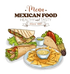 mexican food menu vector image