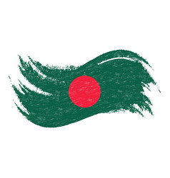 national flag of bangladesh designed using brush vector image